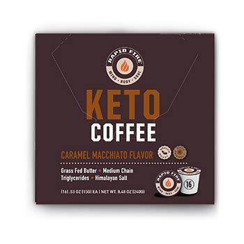 Bulletproof coffee, also known as keto coffee is a great way to jump start your busy day on a keto diet! Rapid Fire Ketogenic Coffee Pods, Caramel Macchiato Flavor, 8.48 oz., 16 pods - Walmart.com ...