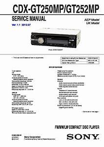 Sony Cdx-gt250m Service Manual