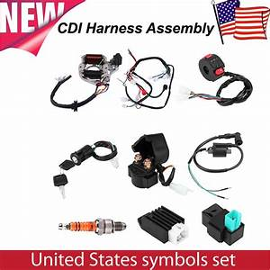 50 70 90 110cc Cdi Harness Assembly Wiring Kit Set Atv