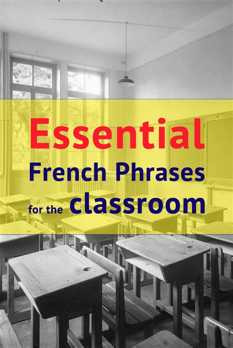 111 Essential French Phrases For The Classroom   French ...