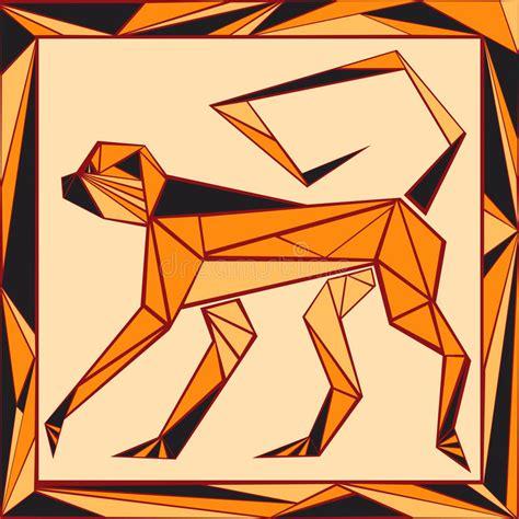 Stilisiertes Buntglas Des Chinesischen Horoskops - Tiger Vektor Abbildung - Illustration von ...