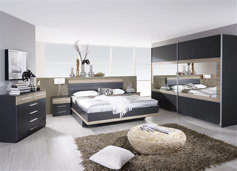 photo chambre adulte chambre adulte complète contemporaine grise chêne clair