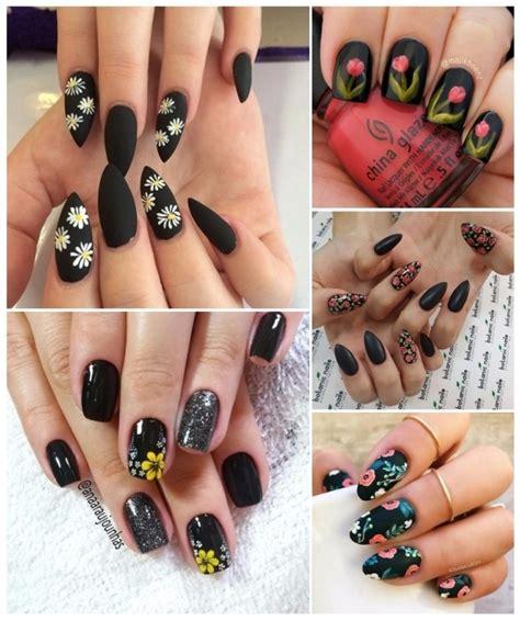 Disponible en otras formas y longitudes de uñas. Decoración de UÑAS NEGRAS   +50 ideas para manicuras oscuras!