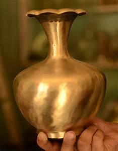Handicraft, Bell, Metal, Lota, Small, Pot, Flower, Vase