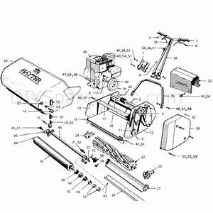 Hayter Ambassador Cylinder Lawnmower  73  Parts Diagram