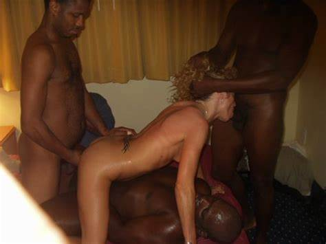 Thai Caucasian Blonde Interracial Gangbang