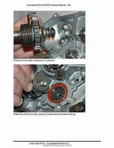 Kawasaki Kdx200h Kdx220a Cyclepedia Printed Motorcycle Service Manual