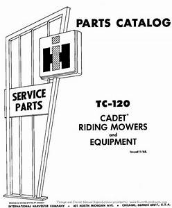 Cub Cadet 60 Riding Mower Parts Manual Tc