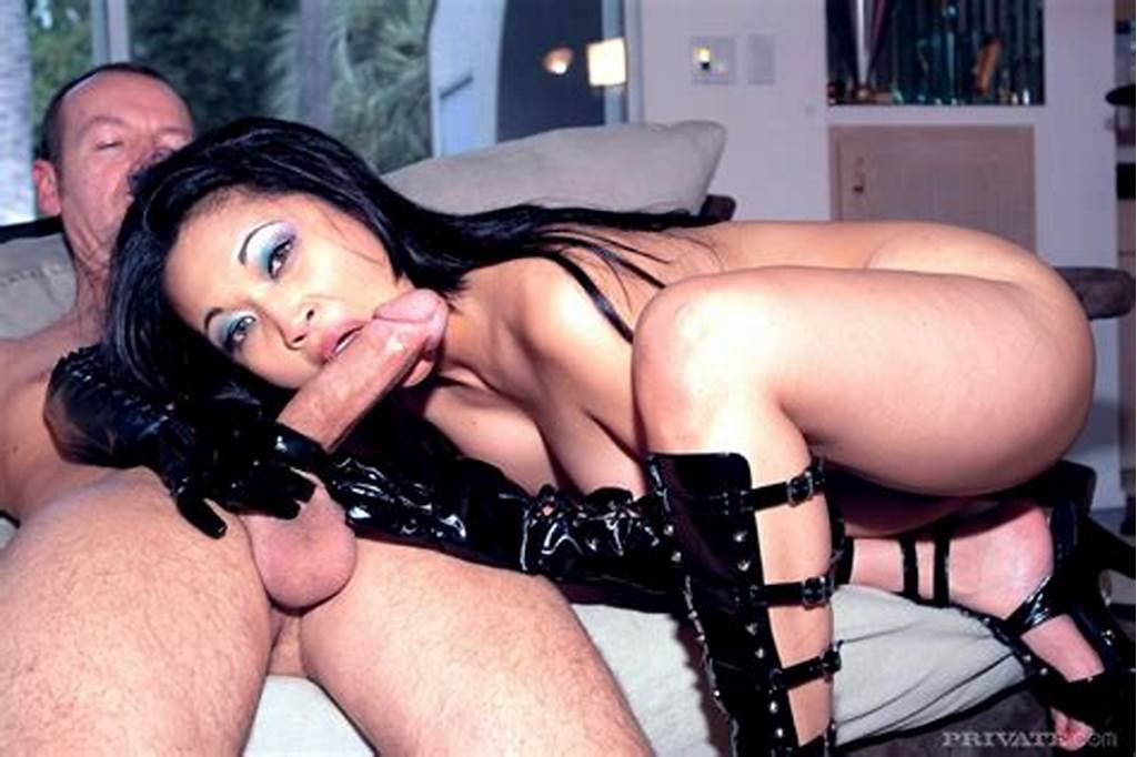 #Asian #Mika #Tan #In #High #Heels #And #Long #Black #Latex #Gloves