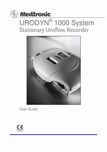 Urodyn 1000 System User Guide March 2000 Pdf Download