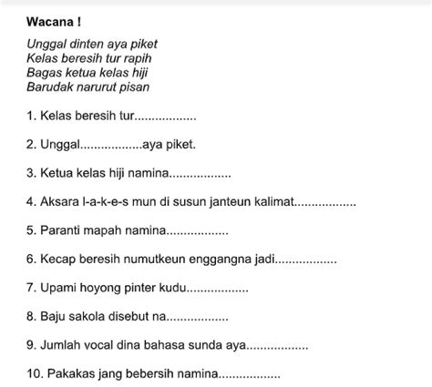 Beriman kepada hari akhir telah menemukan rasa tanggung jawab terhadap. Soal Uas Bahasa Sunda Kelas 4 Dan Kunci Jawaban | Link Guru