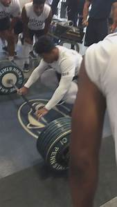 Saquon Barkley Ties Anthony Zettle U0026 39 S Team Record For Power Clean At 390   Cfb