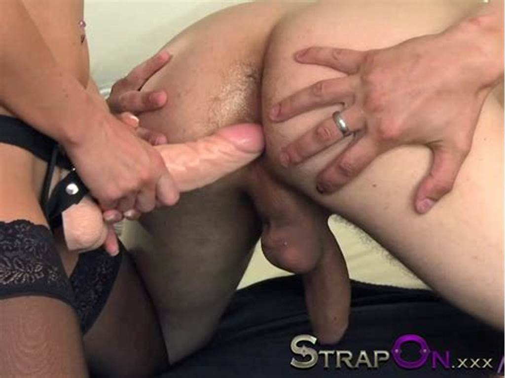 #Strapon #Sexy #Babe #Fucking #Her #Boyfriend #Ass #With #Strapon
