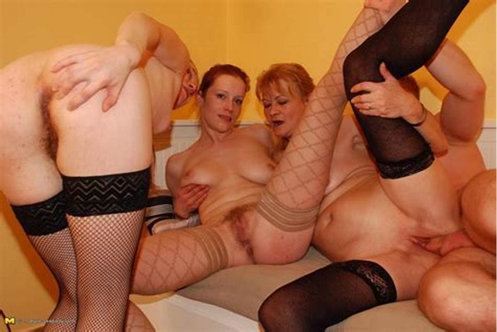 #Three #Naughty #Mature #Sluts #Share #One #Cock