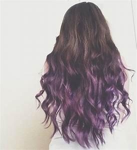 Brunette to Purple Ombre Dip Dye Hair   Hair   Pinterest ...