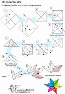 Origami Dominanta Star Folding Instructions