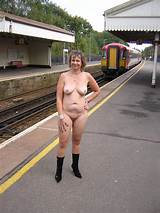Older women exposed nude in publci
