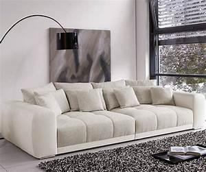 Weiß Graues Sofa : big sofa valeska 310x135 cm grau cremeweiss beige 12 ~ A.2002-acura-tl-radio.info Haus und Dekorationen
