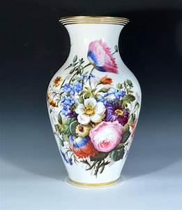 Pair, Of, Paris, Porcelain, Botanical, Vases, Earle, D, Vandekar, Of, Knightsbridge, Inc
