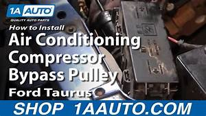 How To Replace A  C Bypass Pulley 92-03 Ford Taurus