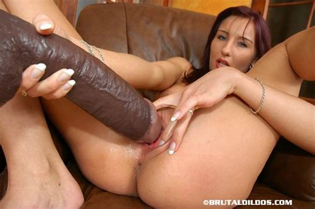 #Hot #Bitch #Fucking #A #Thick #Brutal #Dildo