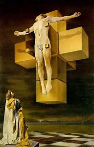 crucifixion surreal paintings by salvador dali 17
