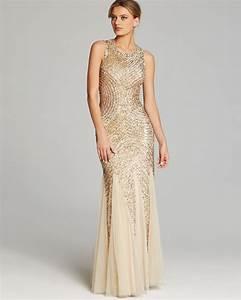 Asos Size Chart Dresses Lyst Aidan Mattox Gown Sleeveless Sequin Beaded Godet In