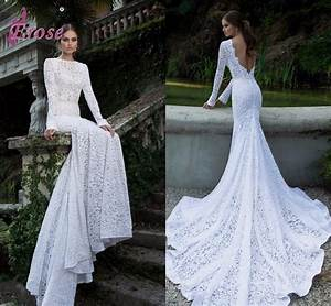 elegant slim fit mermaid gown white lace long sleeve With slimming dresses to wear to a wedding