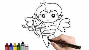 How to Draw Simple Cupid for Valentine's day ★ Drawing for ...
