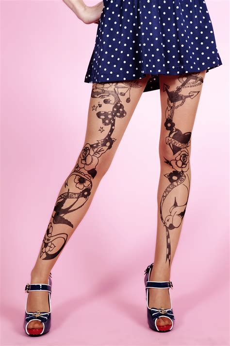 acheter collants tatouage paire collants motif tatouages