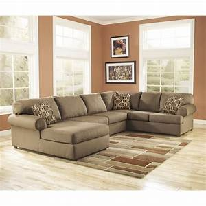 Ashley furniture cowan 3 piece sectional sofa in mocha for Ashley furniture cowan 3 piece sectional sofa in mocha
