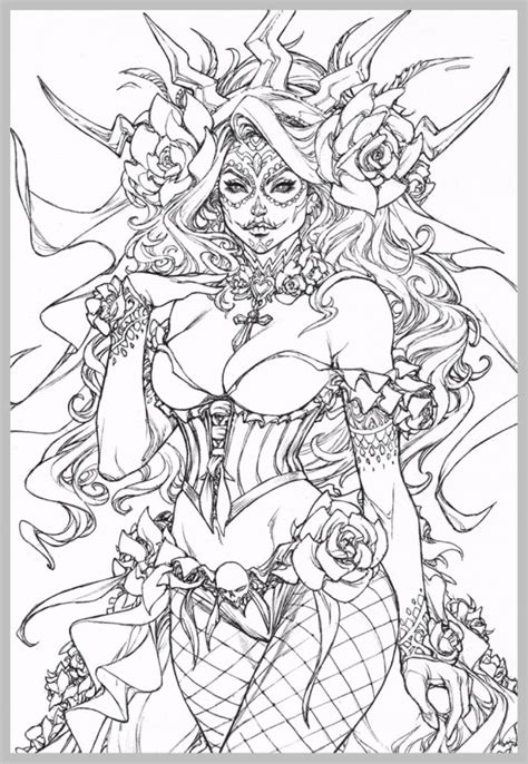 Gothic Fairy Coloring Pages coloring rocks
