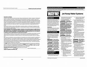 Wayne Jet Pump Water Systems Shallow Well Operating
