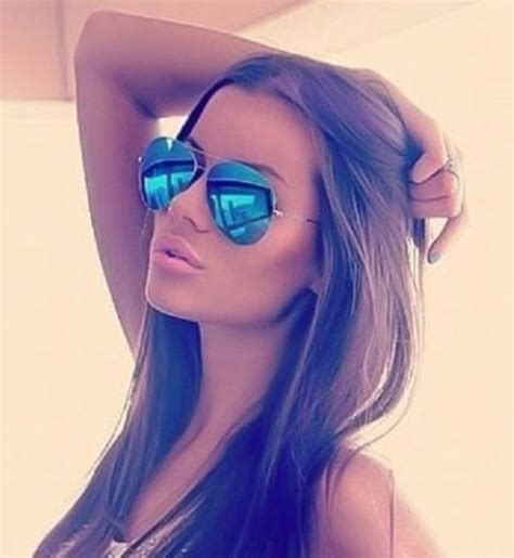 Blue Mirror Aviator Sunglasses gold Frame Hot Famous Cool