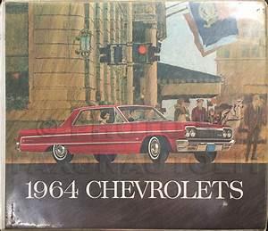 1964 Chevy Car Wiring Diagram Manual Reprint Impala  Bel