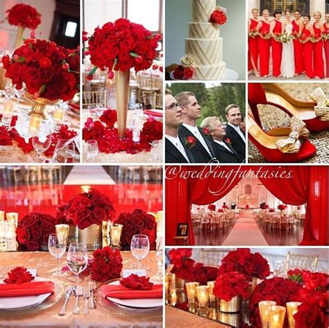 red and ivory wedding theme Google Search Red gold