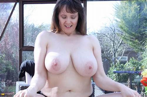 Tits British Milf Enjoys A Giant #Big #Breasted #British #Housewife #Getting #Wet