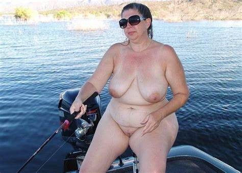 Thick Lady Takes A Load On Boat