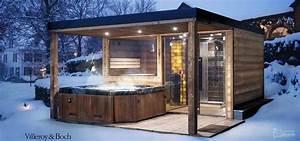 Jacuzzi Im Garten : garden sauna with shower and jacuzzi garden jacuzzi sauna shower in 2019 outdoor sauna ~ Watch28wear.com Haus und Dekorationen