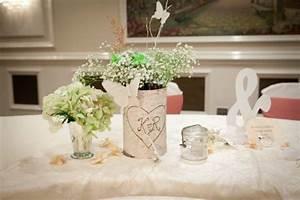 la decoration table mariage des fleurs et du romantisme With chambre bébé design avec bouquet de fleurs pour mariage civil