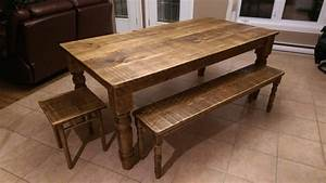 table de cuisine en bois de grange idee de modele de cuisine With modele de table de cuisine en bois