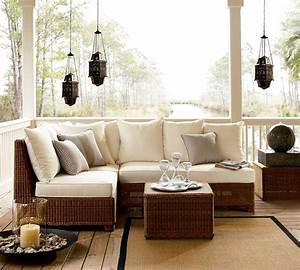 Outdoor garden furniture designs by pottery barn for Outdoor living decor