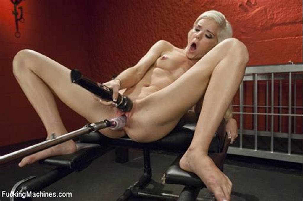 #Petit #Blonde #Girl #Halle #Von #Cums #From #Machine #Fucking #And