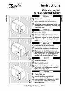 Danfoss Calendar Module Operating Guide