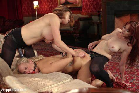 Stepmother Humiliates Together With Strapon Gagging Hole Worship