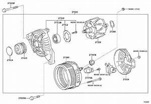 2016 Toyota Camry Frame Assembly  Drive End  Alternator