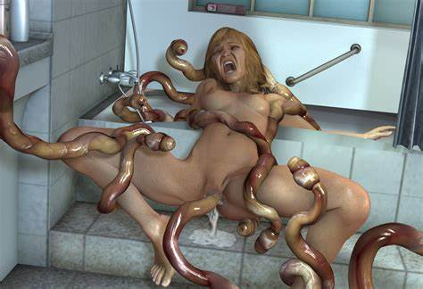 Incredibly Monster 3d Horse Fucking A Curvy Shower Floor As A Place Of Tentacle Torture