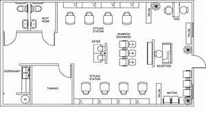 beauty salon floor plan design layout 1160 square foot With hair salon floor plan maker