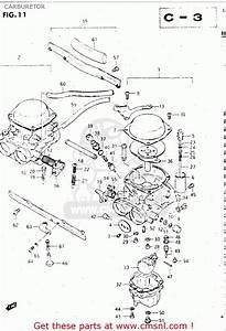 Suzuki Gsx500es 1984  E  General Export  E01  Carburetor