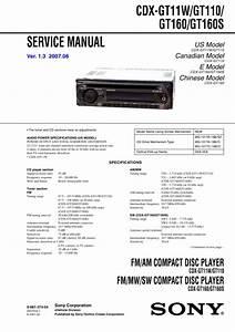 Sony Cdx-gt160 Service Manual